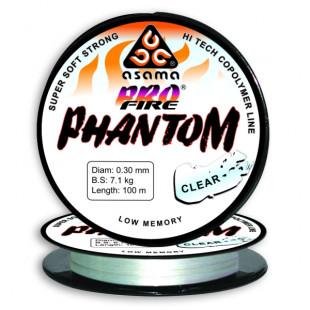 Леска Asama ProFire Phantom 100m Clear 0,38