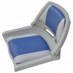 Сиденье пласт.скл. с подложкой Molded Fold-Down Boat Seat серо-голубое 75109GB