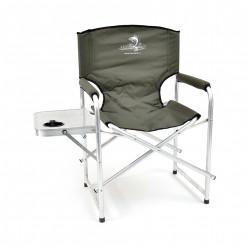 Кресло скл. Кедр со столиком с подстаканником алюм. AKS-07