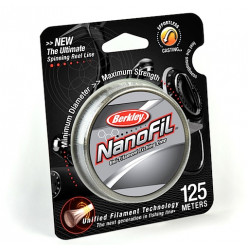 Плетеный шнур BERKLEY NANOFIL CLEAR 0.17мм 125м