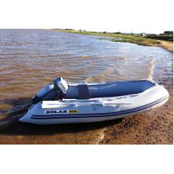 Лодка надувная транцевая Солар Максима-310 светло-серый