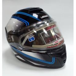 Шлем модулярный LEO STREAM EDL II чер/бел/син 2XL