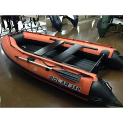 Лодка надувная транцевая Солар Максима-350 оранжевый