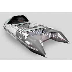 Лодка моторная Gladiator C370AL светло-серый/темно-серый