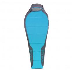 Спальный мешок Btrace Bless L (левый, Серый/Синий) 220+90*55 t -4 -24