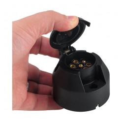 Розетка для прицепа пластиковая 7 контактов JTC02