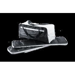 Комплект мягких накладок 860*200 черно/белые