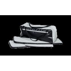Комплект мягких накладок ПВХ 800*200 черно/белые
