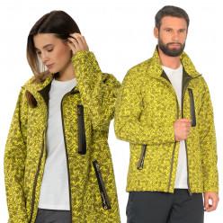Куртка AQUATIC КС-05ЛД унисекс soft shell цв.lime digital р.52/54