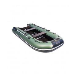 Моторная лодка Ривьера Компакт 3200 СК Касатка зеленый/черный