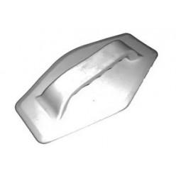 Ручка ПВХ лодочная шестиугольник серая