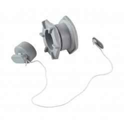 Сливной клапан с пробкой серый 24мм