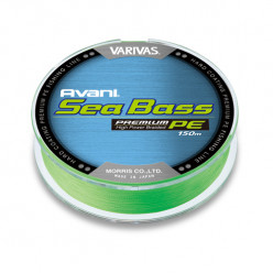 Плетеный шнур Varivas Avani Sea Bass Premium PE 150м 1.0 (0,165мм)