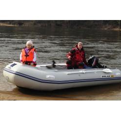 Лодка надувная транцевая Солар-400 МК светло-серый