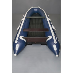 Лодка надувная транцевая Солар-450 Jet Tunnel синий