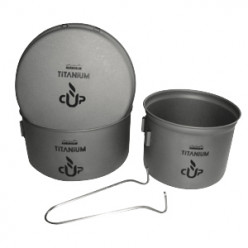Посуды ADRENALIN Titanium Compact (2 кастрюли, сковородка)
