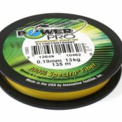 Плет.шнур Power Pro135м  Yellow 0.19мм 15LB