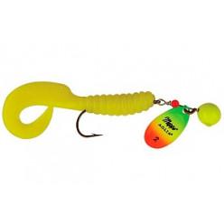 Блесна MEPPS Aglia Spinflex 2 7гр chartreuse/tiger/yellow