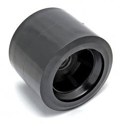 Ролик подкильный 80мм чёрный пластик C11230