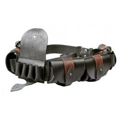 Патронташ наборный кожаный малый 12 калибр 20п. с подвесным ремнем