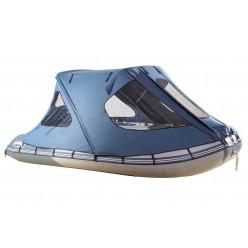 Тент ходовой с каркасом для лодок Gladiator 400 серый