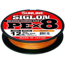 Плетеный шнур SUNLINE SIGLON PE 8 #1.5 (0,205мм) 150м оранжевый