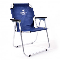 Кресло-шезлонг Кедр алюминий цв. синий AKS-08