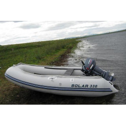 Лодка надувная транцевая Солар Максима-330 светло-серый