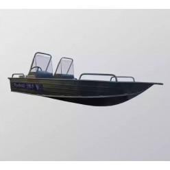 Алюминиевая лодка Wyatboat-390У с 2 консолями