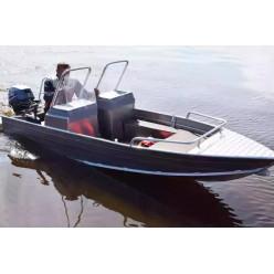 Алюминиевая лодка Wyatboat-390 M с 2 консолями
