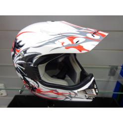 Шлем кросс МС130 бел.L MICHIRU