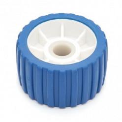 Колесо бортовое, пластмассовое, бело-синее C12330L-22