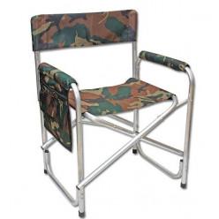 Кресло складное с карманом на подлокотнике АК-02 алюминий