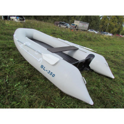 Лодка надувная транцевая Солар SL350 светло серый