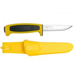 Нож Morakniv Basic 546  нержавеющая сталь пласт. ручка желтая чер. вставка 13712