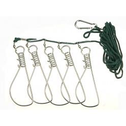 Кукан рыболовный 5 застежек в пакете