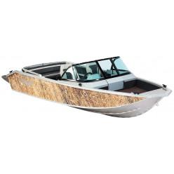 Лодка Волжанка 46 Фиш транец 385мм с доп.опциями RU-ABS46714J717