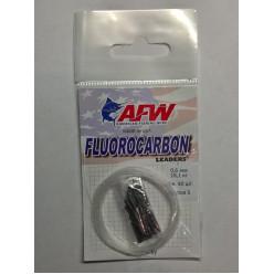 Поводковый материал AFW флюрокарбон с обжимной гильзой (40шт) 5м d0,45