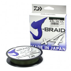 Шнур Daiwa J-Braid X4 Dark Green 0.21mm 135m