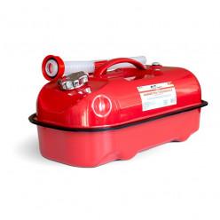 Канистра топливная металлическая горизонтальная AVS HJM-20 красная