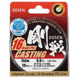 Шнур Gosen Casting 16 braid 0,153мм 150м зеленый