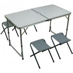 Стол +4стула складной алюминCC-ТА407S