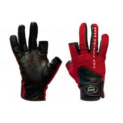 Перчатки спиннингиста Alaskan двухпалые Red/BL  M