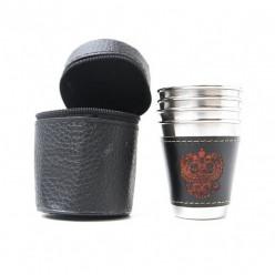 Набор стаканов 4 шт в чехле средний