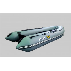 Лодка надувная транцевая Солар Оптима-350 серый
