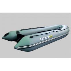 Лодка надувная транцевая Солар Оптима-380 серый