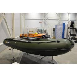 Лодка надувная транцевая Солар Оптима-380 зеленый