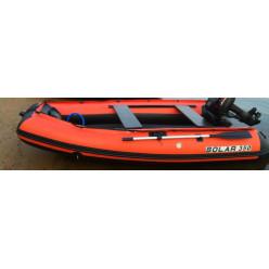 Лодка надувная транцевая Солар Оптима-350 оранжевый