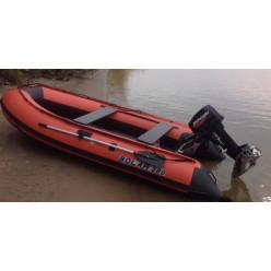 Лодка надувная транцевая Солар Оптима-380 оранжевый
