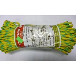 Шнур полиэтиленовый ШПЭМН 16-прядный с сердечником 5.5мм 1кг зеленый-красн.